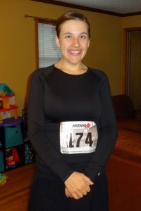 Woman runs 5K after losing 80 pounds